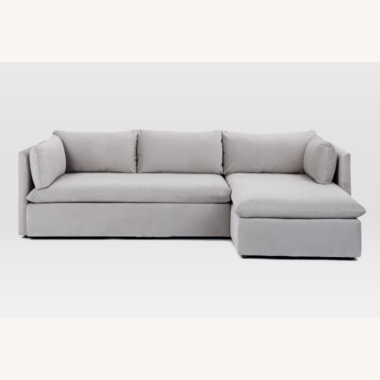 West Elm Shelter Sectional Sofa Dove Gray - image-9