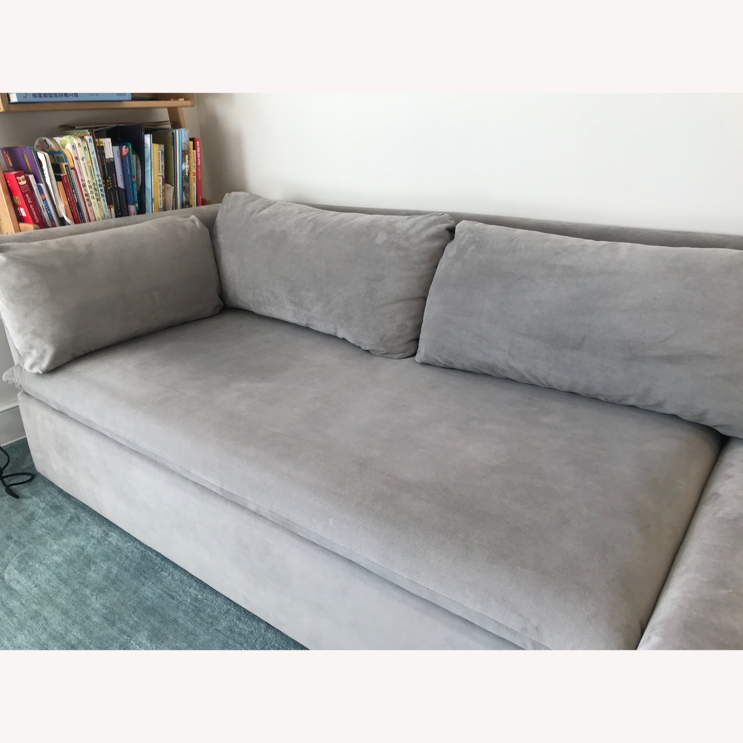 West Elm Shelter Sectional Sofa Dove Gray - image-3