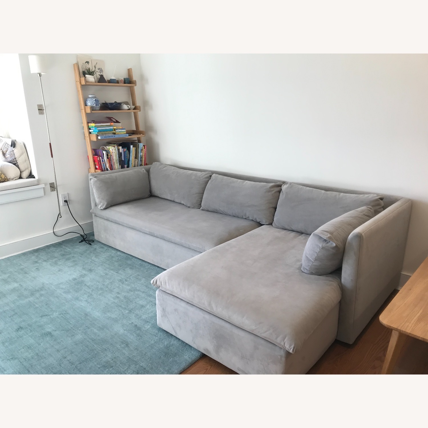 West Elm Shelter Sectional Sofa Dove Gray - image-6