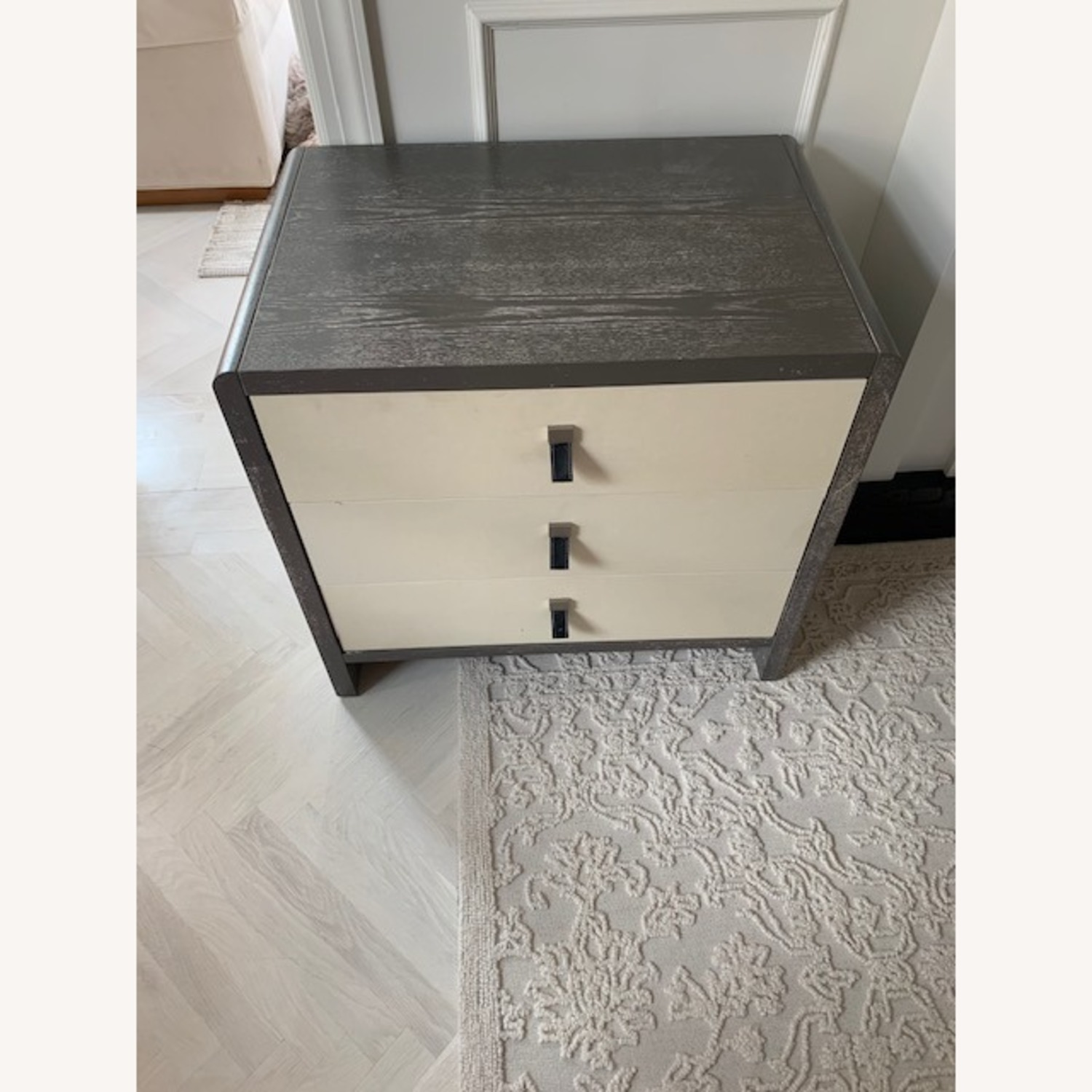Elegant Chest of Drawers with Leather Pulls - image-1