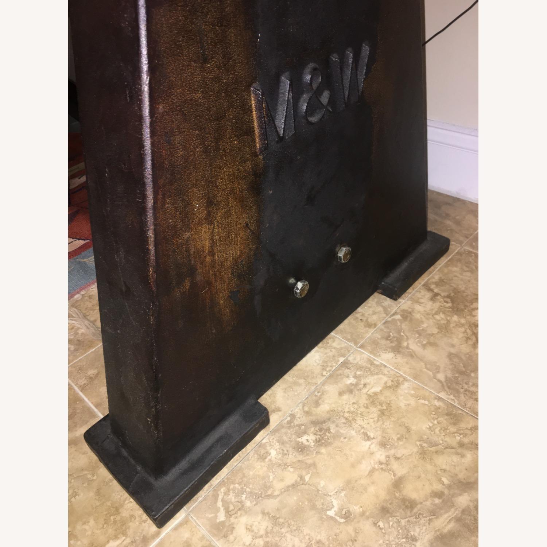 Custom-Made Rustic Iron & Oak Table - image-7