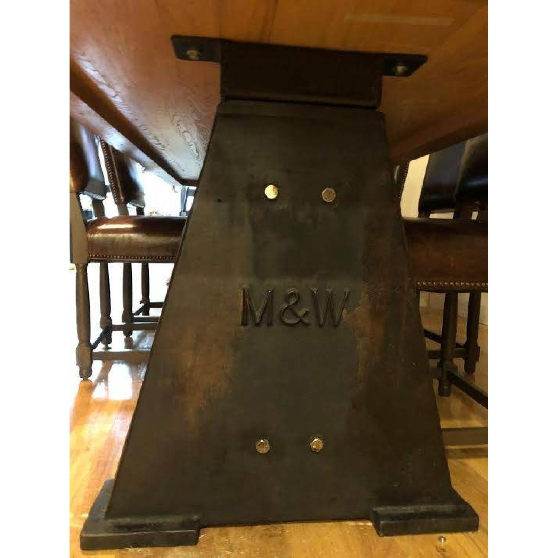 Custom-Made Rustic Iron & Oak Table - image-3