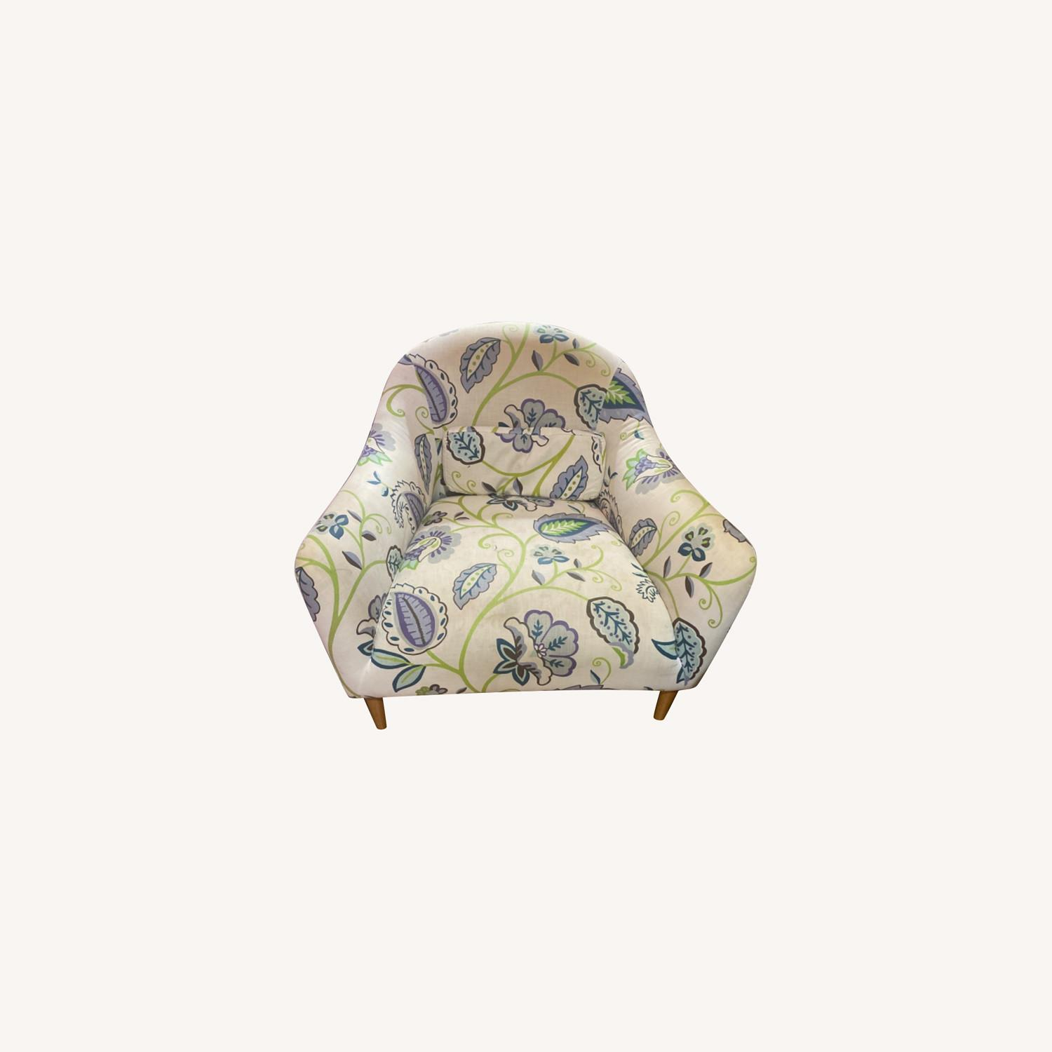 Crate and Barrel Pennie Chair Cornflower - image-0