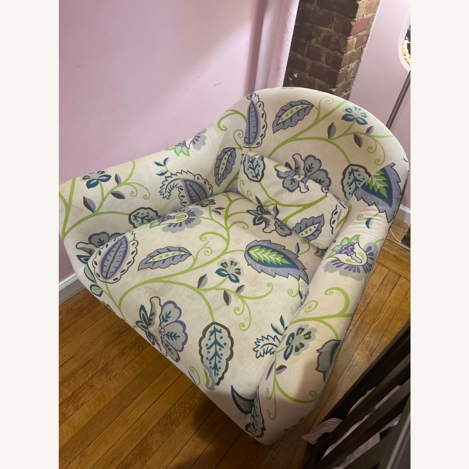 Crate and Barrel Pennie Chair Cornflower - image-2