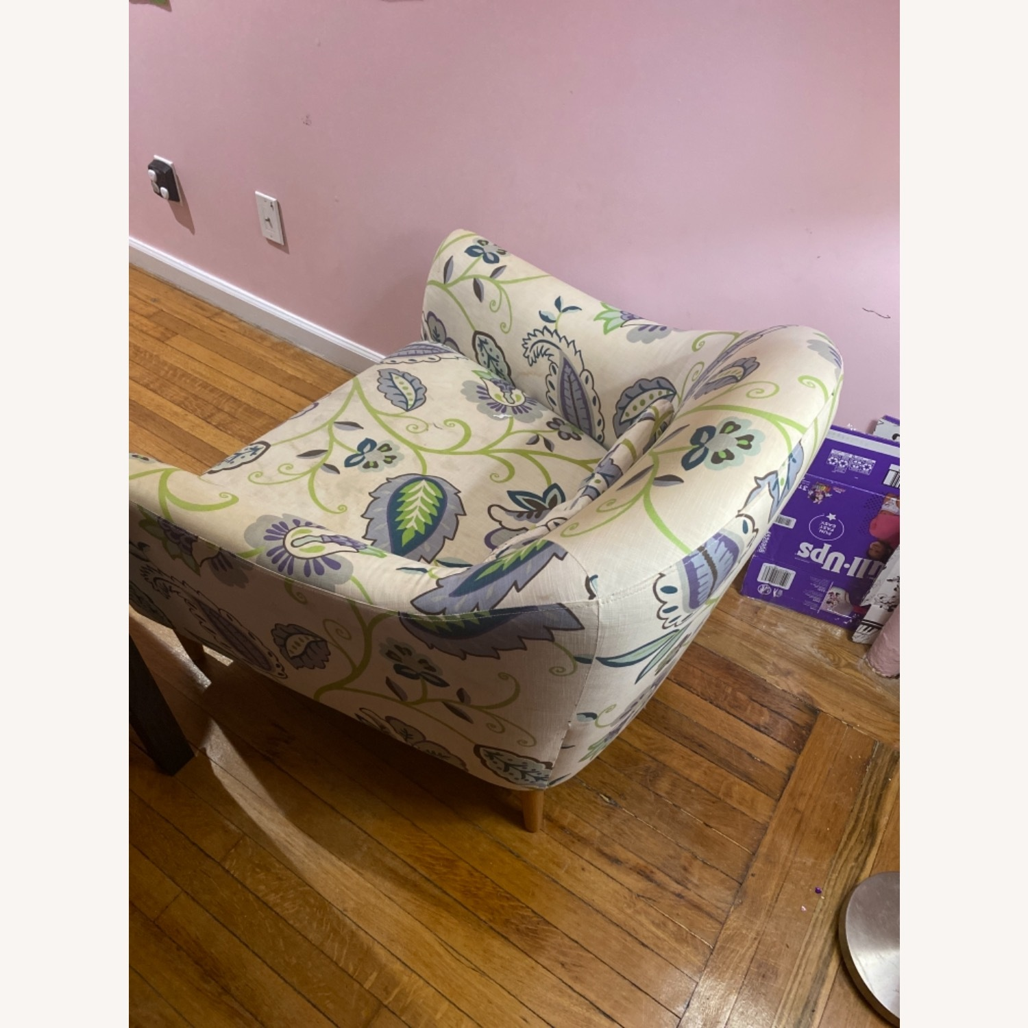 Crate and Barrel Pennie Chair Cornflower - image-3