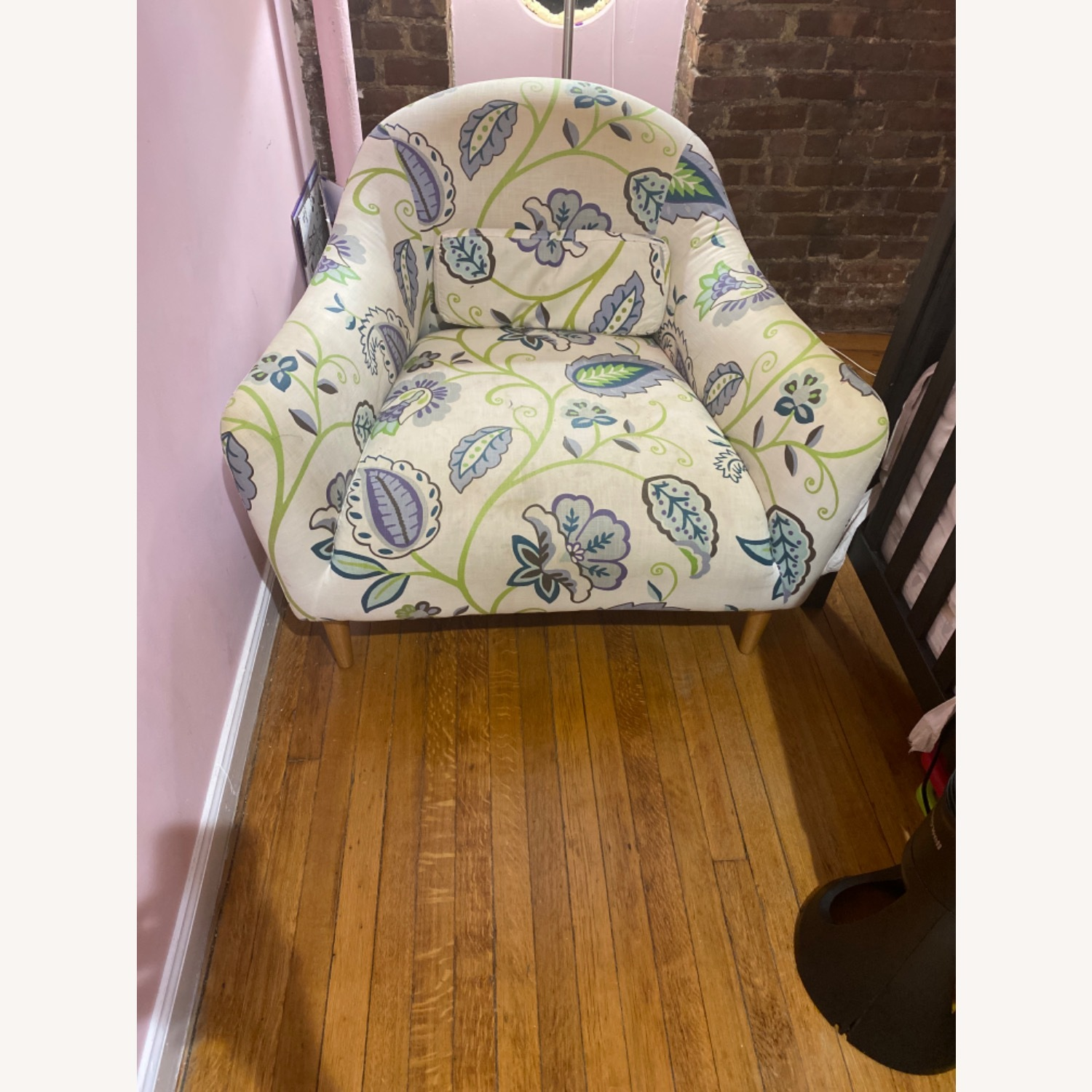 Crate and Barrel Pennie Chair Cornflower - image-1