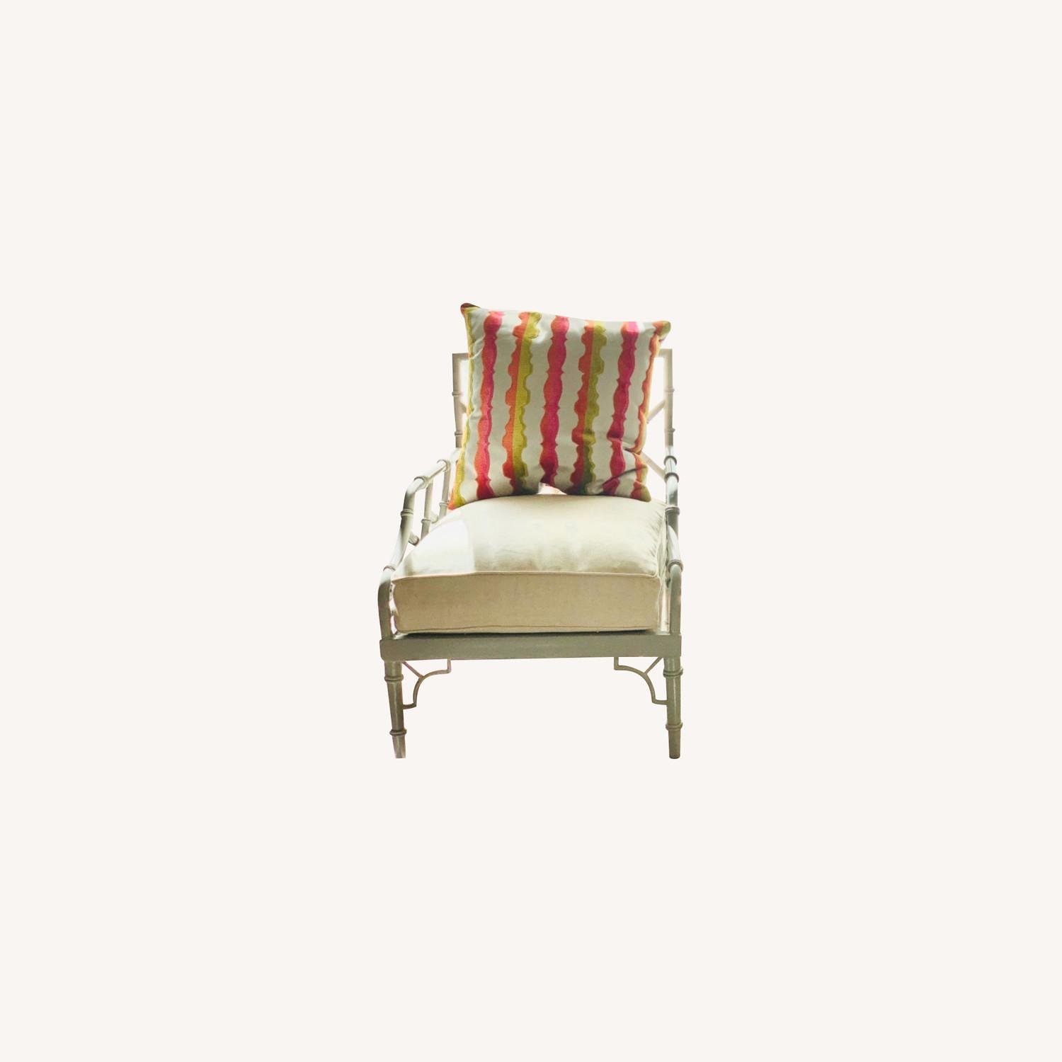 Set of 2 Chinese Chippendale Armchairs - image-0