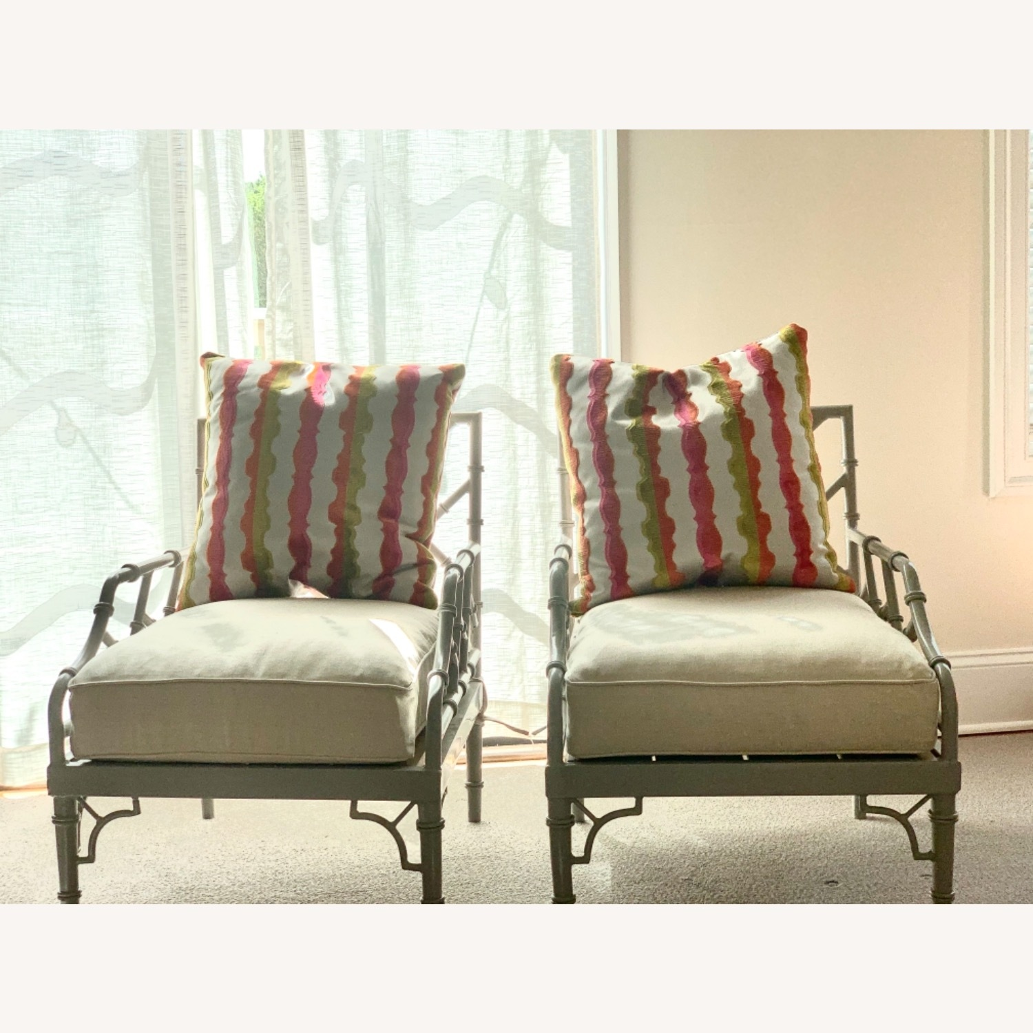 Set of 2 Chinese Chippendale Armchairs - image-1