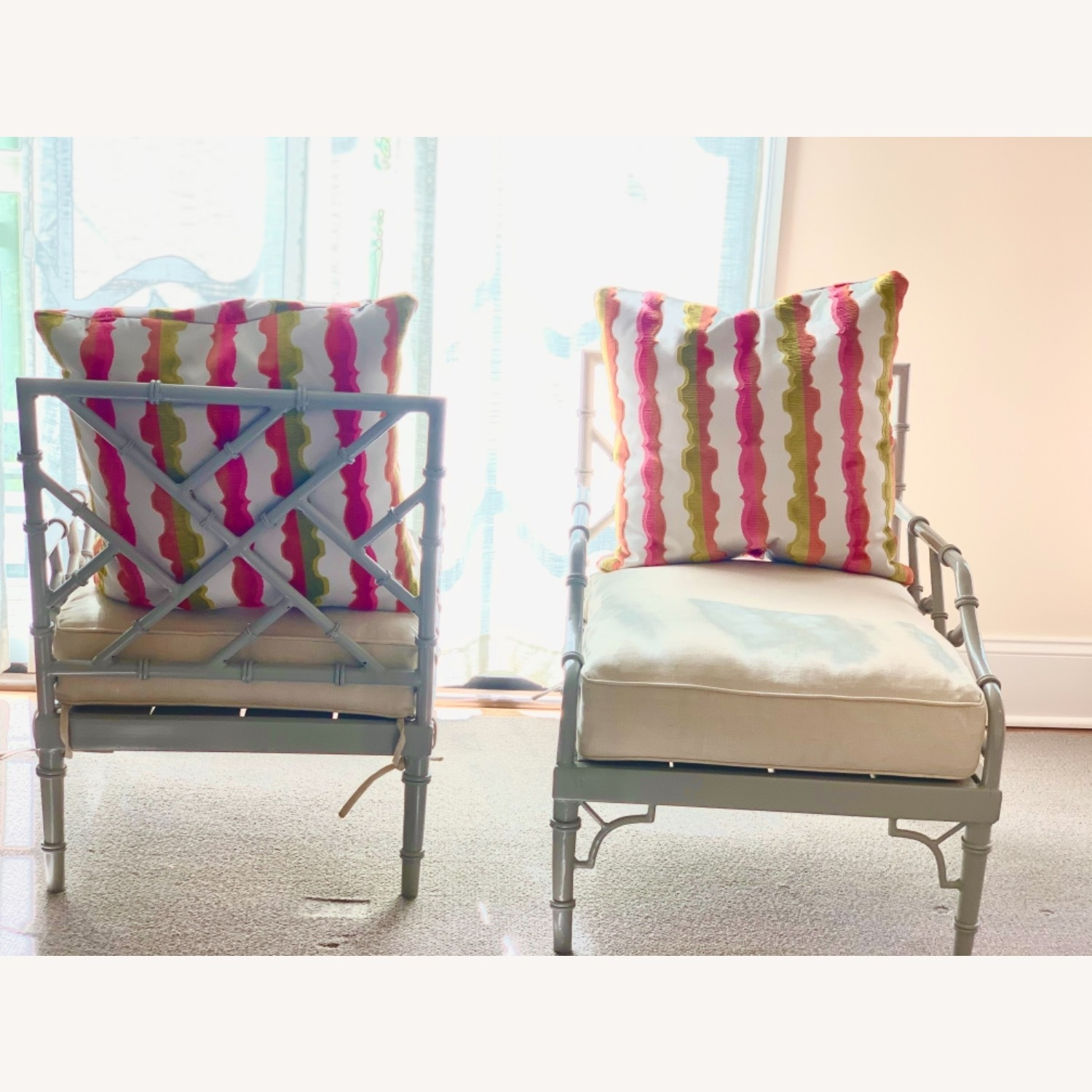 Set of 2 Chinese Chippendale Armchairs - image-3