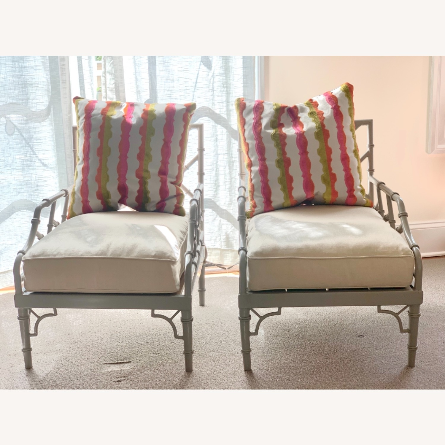 Set of 2 Chinese Chippendale Armchairs - image-8