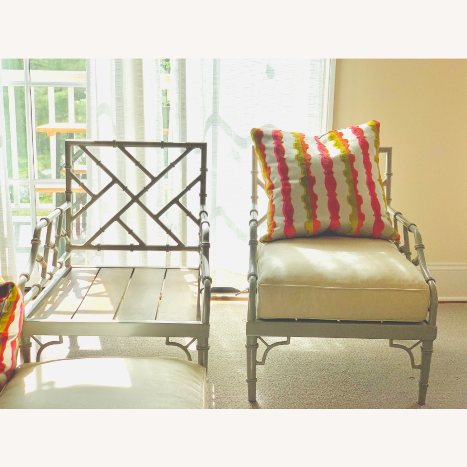 Set of 2 Chinese Chippendale Armchairs - image-5
