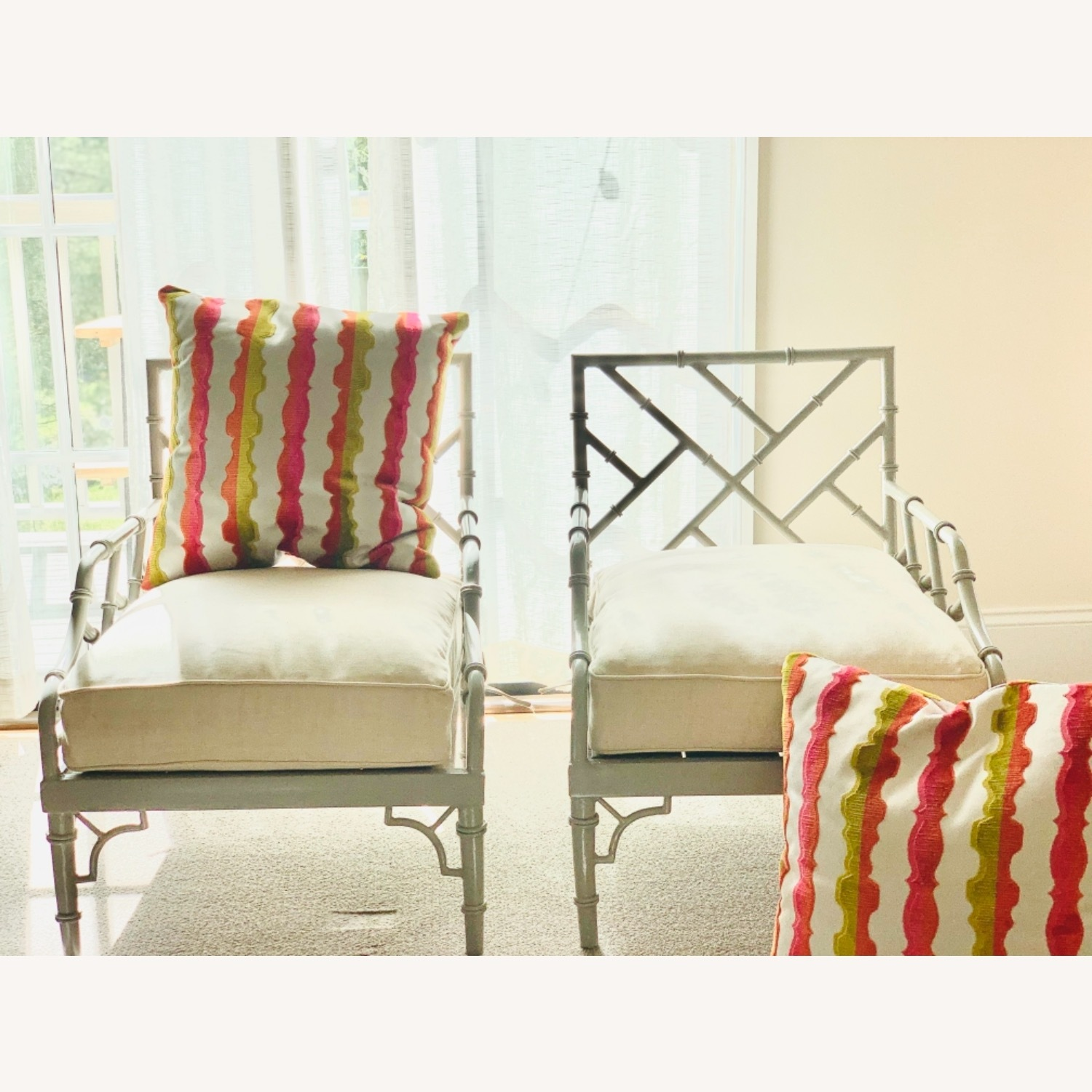 Set of 2 Chinese Chippendale Armchairs - image-4