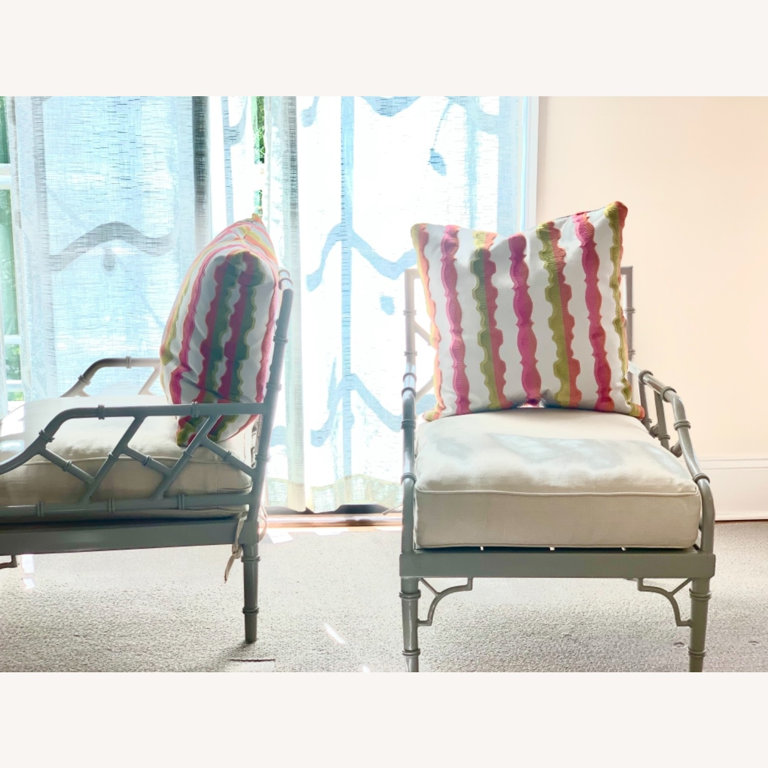 Set of 2 Chinese Chippendale Armchairs - image-2