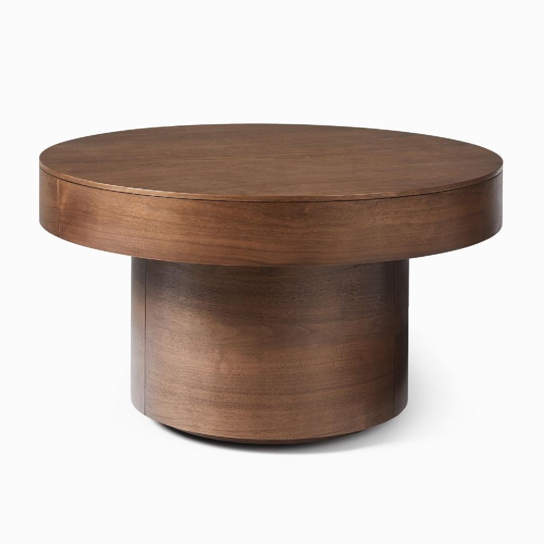 West Elm Round Pedestal Coffee Table - image-6