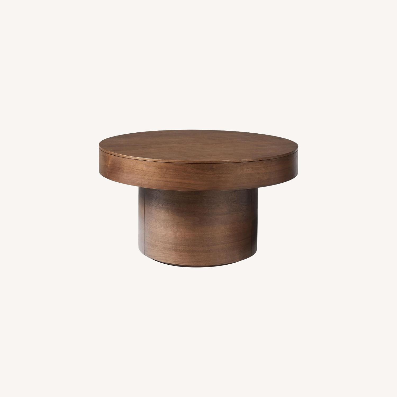 West Elm Round Pedestal Coffee Table - image-0