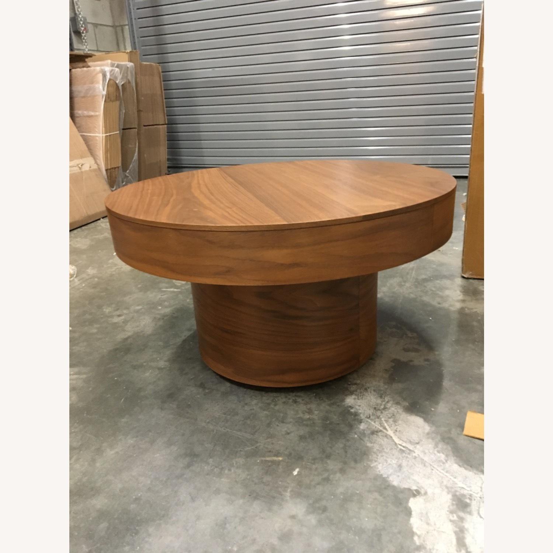 West Elm Round Pedestal Coffee Table - image-1