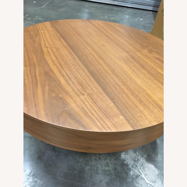 West Elm Round Pedestal Coffee Table - image-2
