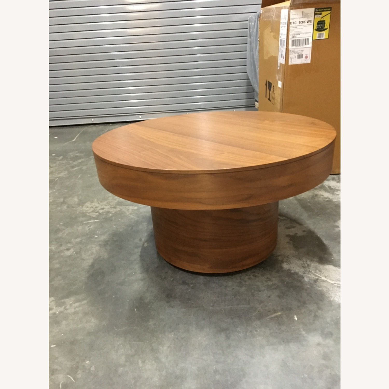 West Elm Round Pedestal Coffee Table - image-3