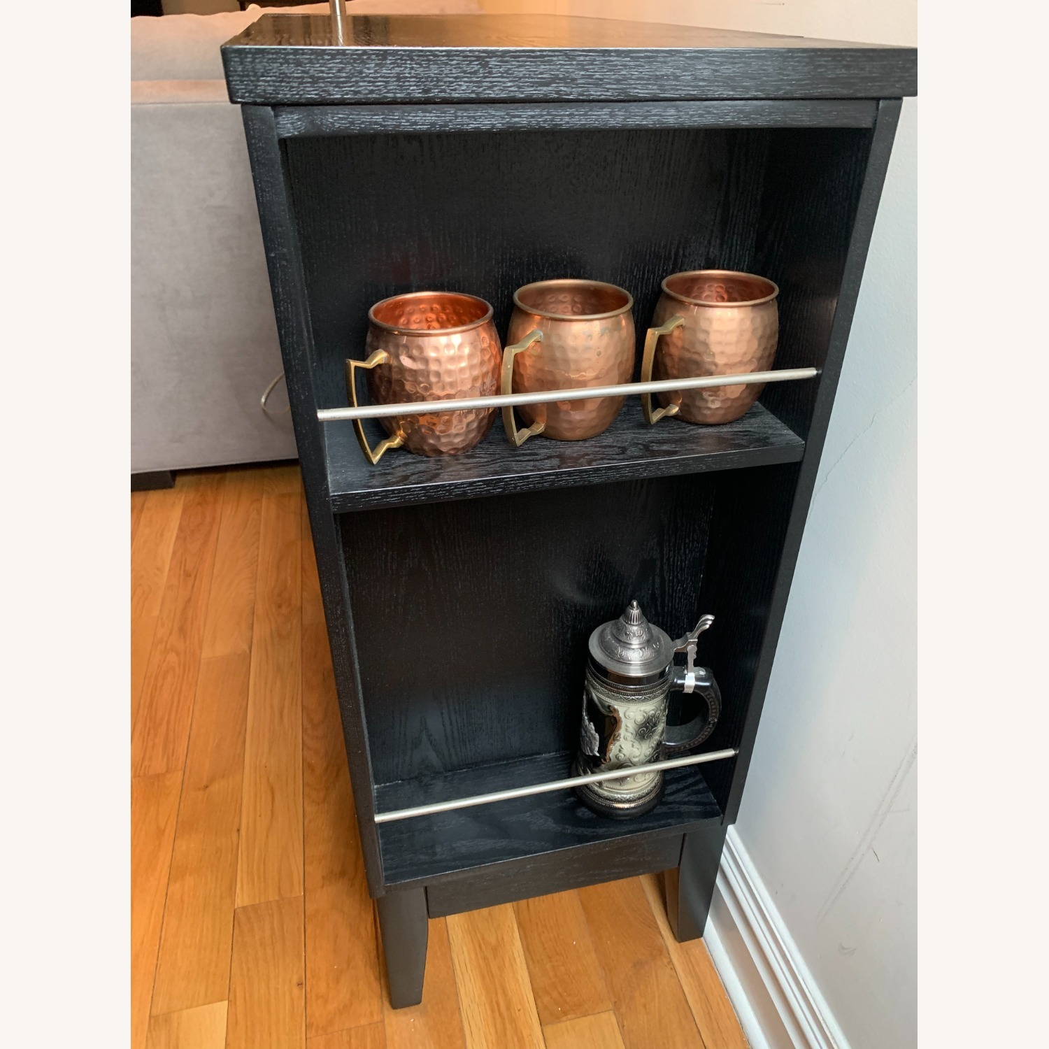 Crate and Barrell Black Bar Cabinet - image-4