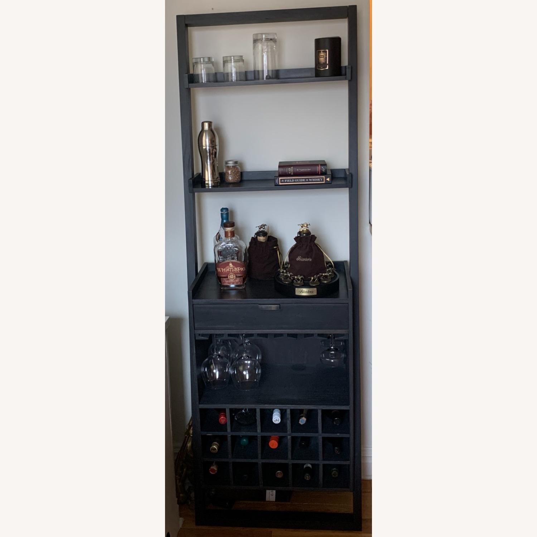 Modern Black Bar Cabinet with Storage - image-1