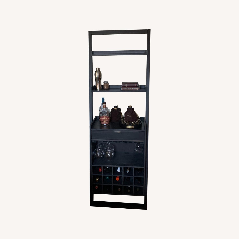 Modern Black Bar Cabinet with Storage - image-0