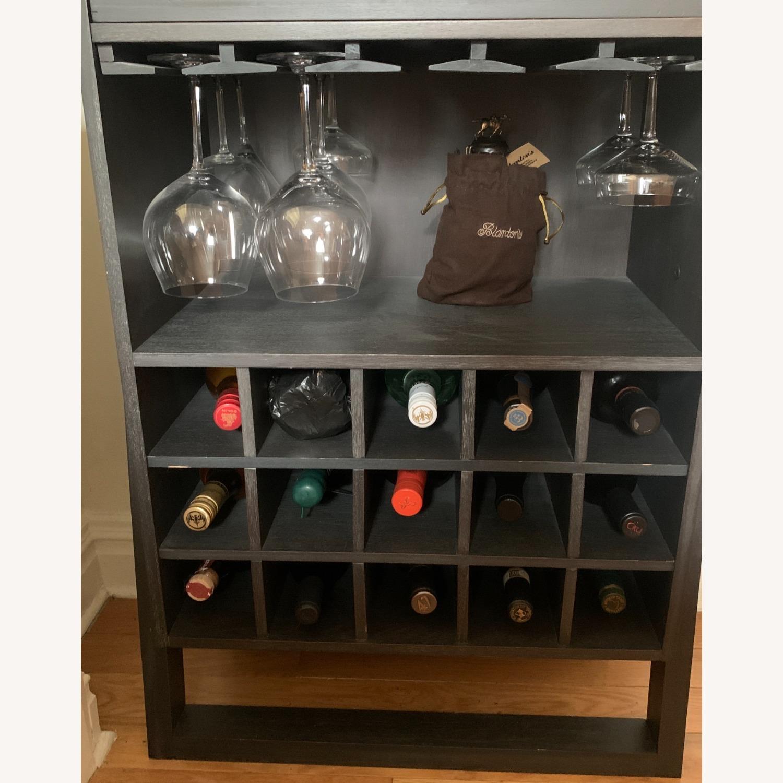 Modern Black Bar Cabinet with Storage - image-2