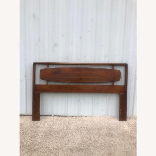 Used Mid Century Full/Double Walnut headboard for sale on AptDeco