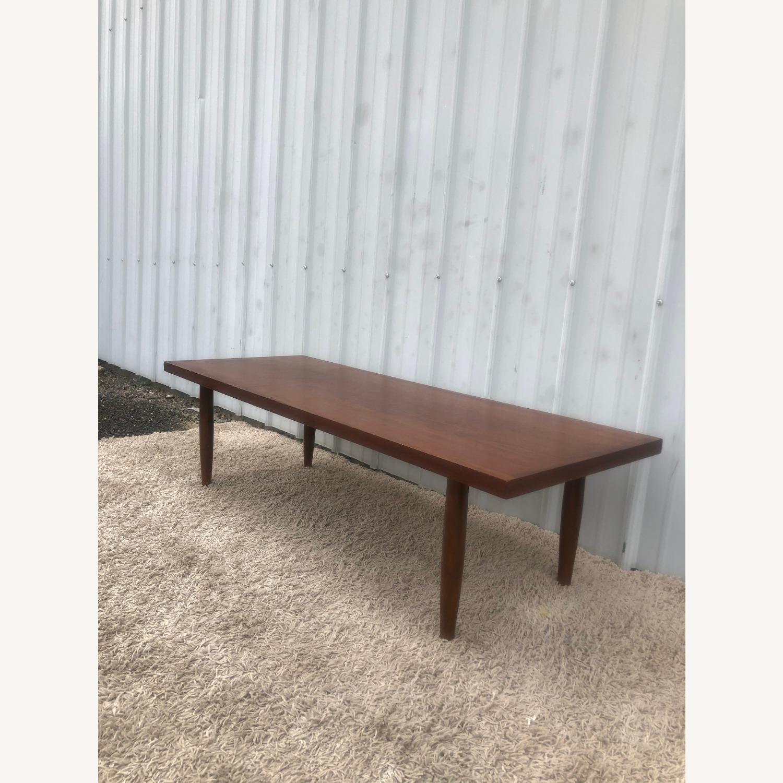 Mid Century Rectangular Walnut Coffee Table - image-3
