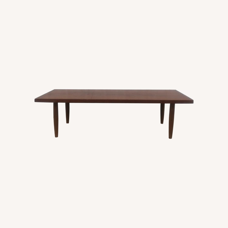 Mid Century Rectangular Walnut Coffee Table - image-0