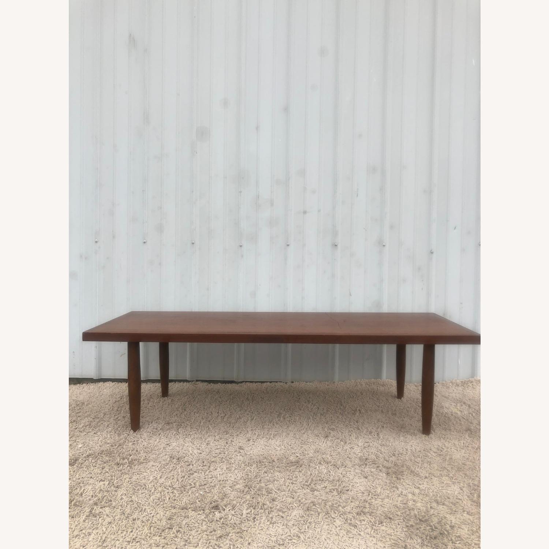 Mid Century Rectangular Walnut Coffee Table - image-16