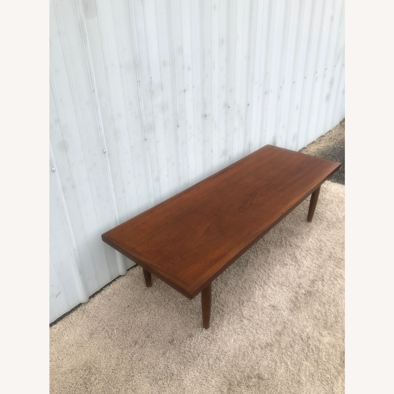 Mid Century Rectangular Walnut Coffee Table - image-6
