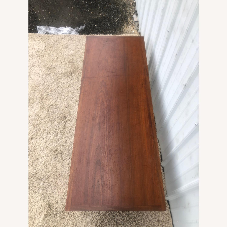 Mid Century Rectangular Walnut Coffee Table - image-5
