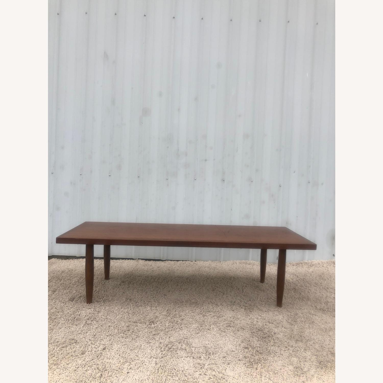 Mid Century Rectangular Walnut Coffee Table - image-14