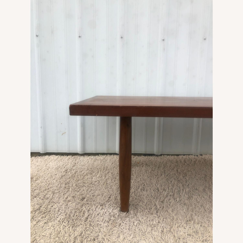 Mid Century Rectangular Walnut Coffee Table - image-10