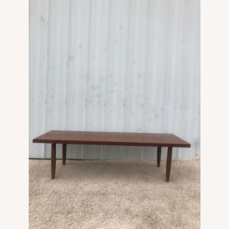 Mid Century Rectangular Walnut Coffee Table - image-11