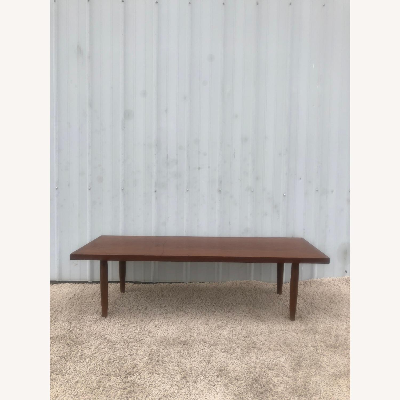 Mid Century Rectangular Walnut Coffee Table - image-2