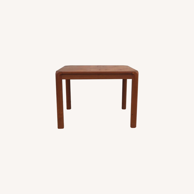 Danish Modern Rectangular Teak End Table - image-0