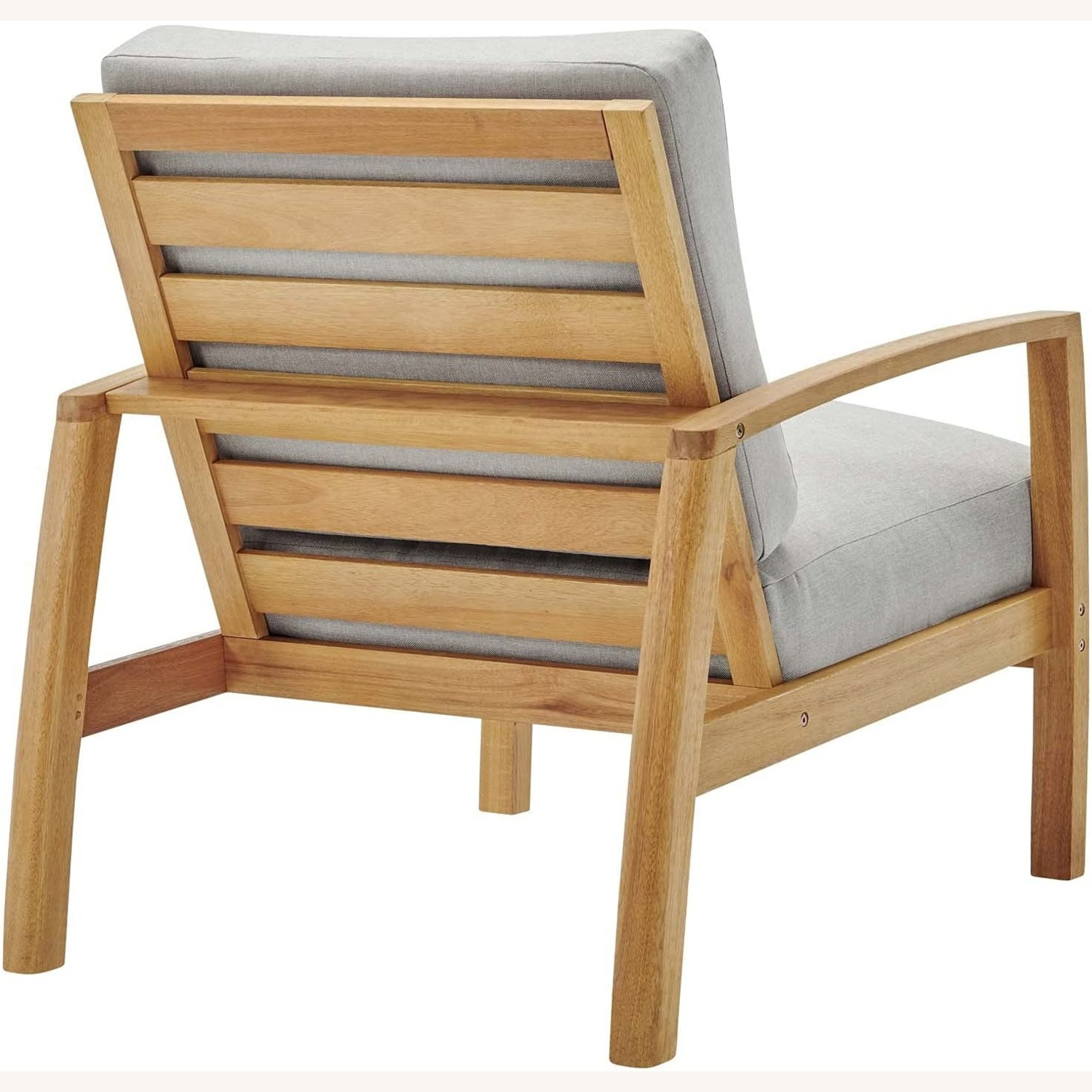 4-Piece Outdoor Patio Set In Natural Wood Finish - image-3