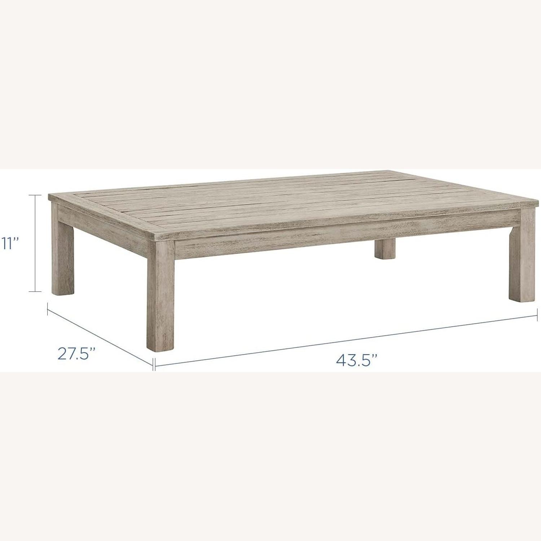 4-Piece Outdoor Patio Set In Light Gray Wood - image-10