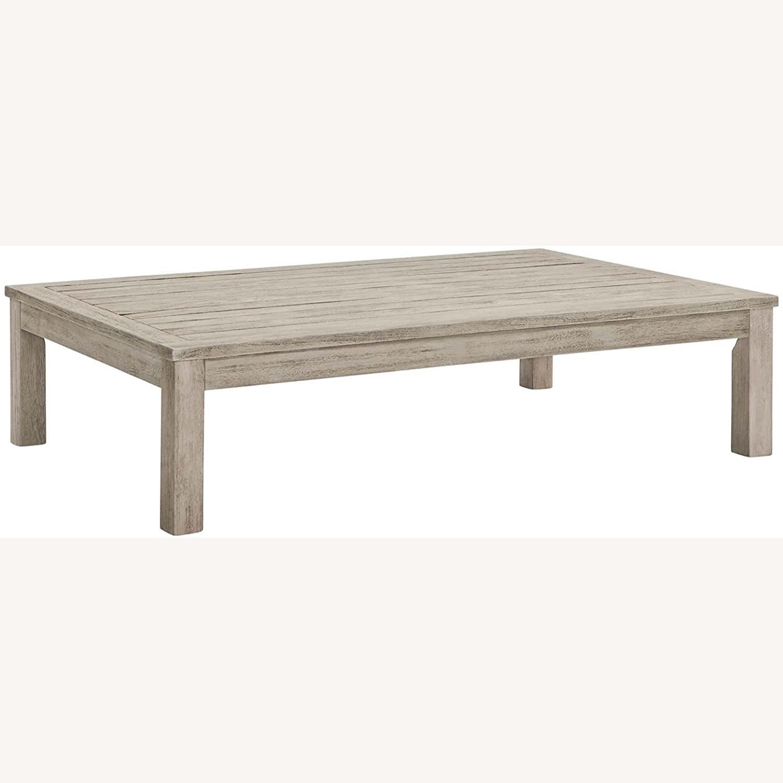 4-Piece Outdoor Patio Set In Light Gray Wood - image-9