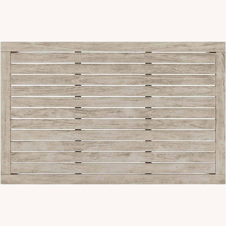 4-Piece Outdoor Patio Set In Light Gray Wood - image-11