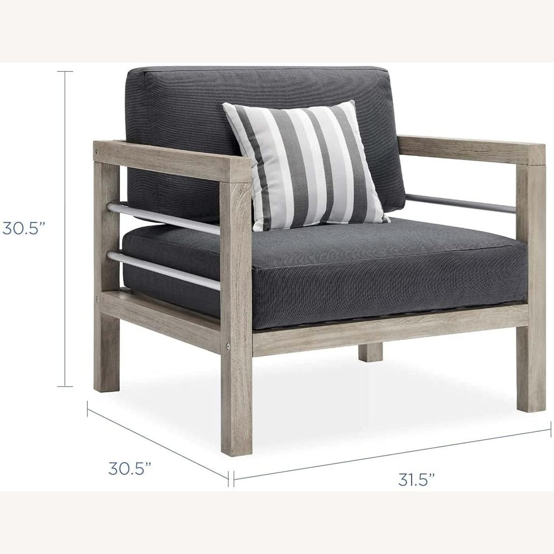 4-Piece Outdoor Patio Set In Light Gray Wood - image-6