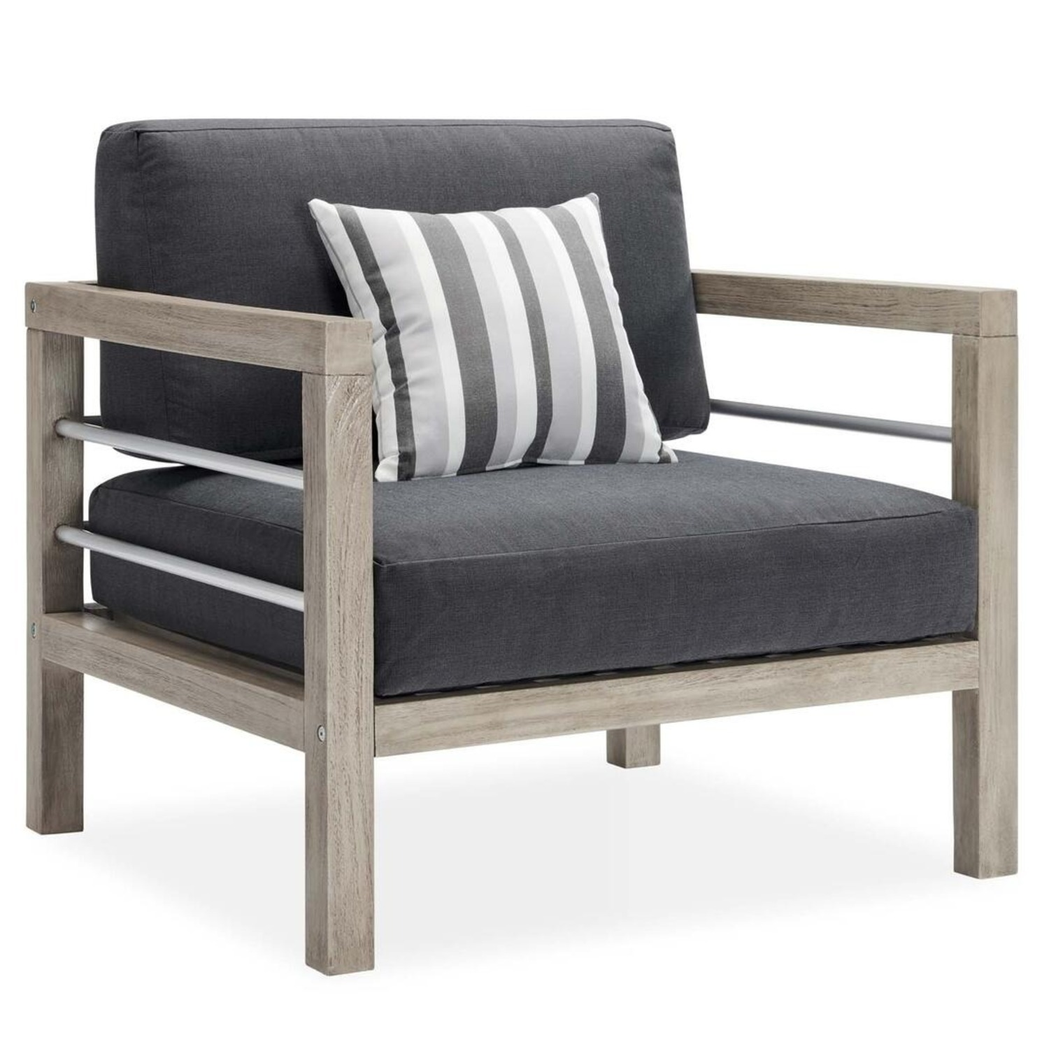 3-Piece Outdoor Patio Set In Light Gray Finish - image-4