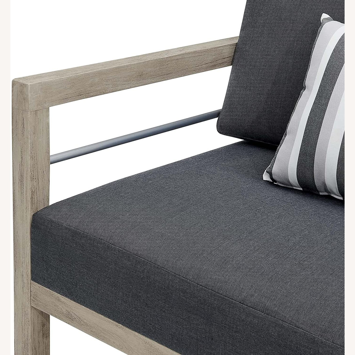 Outdoor Patio Set In Light Gray Wood Finish - image-8