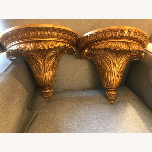 Used Mahogany Wall Brackets with Gold Gilt for sale on AptDeco