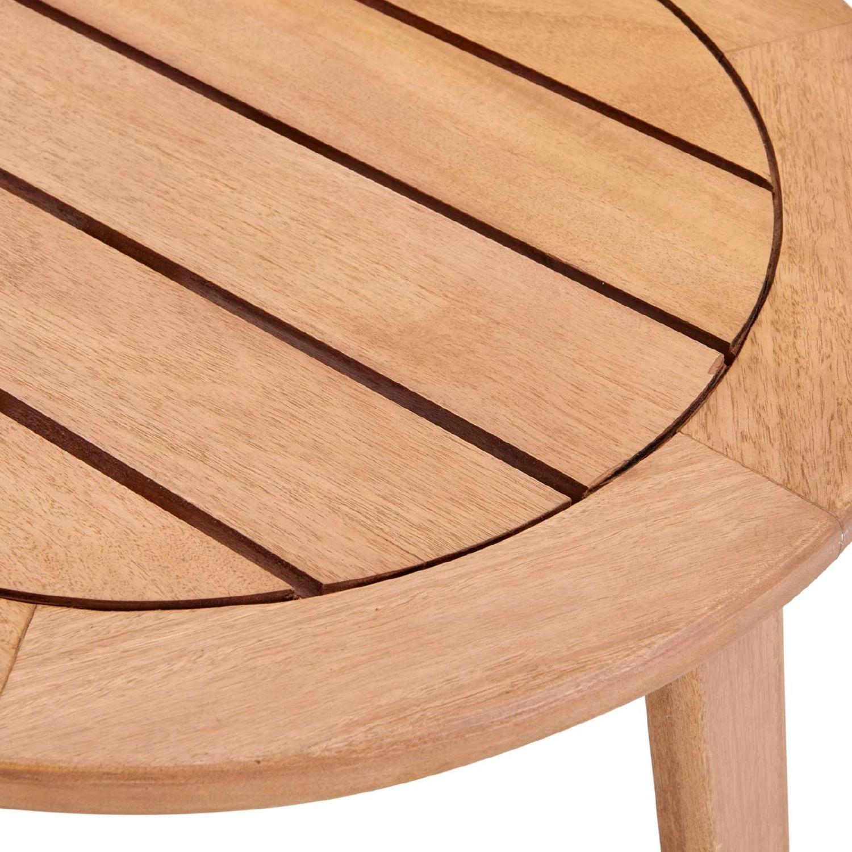 3-Piece Outdoor Patio Set In Ash Wood & Beige - image-5