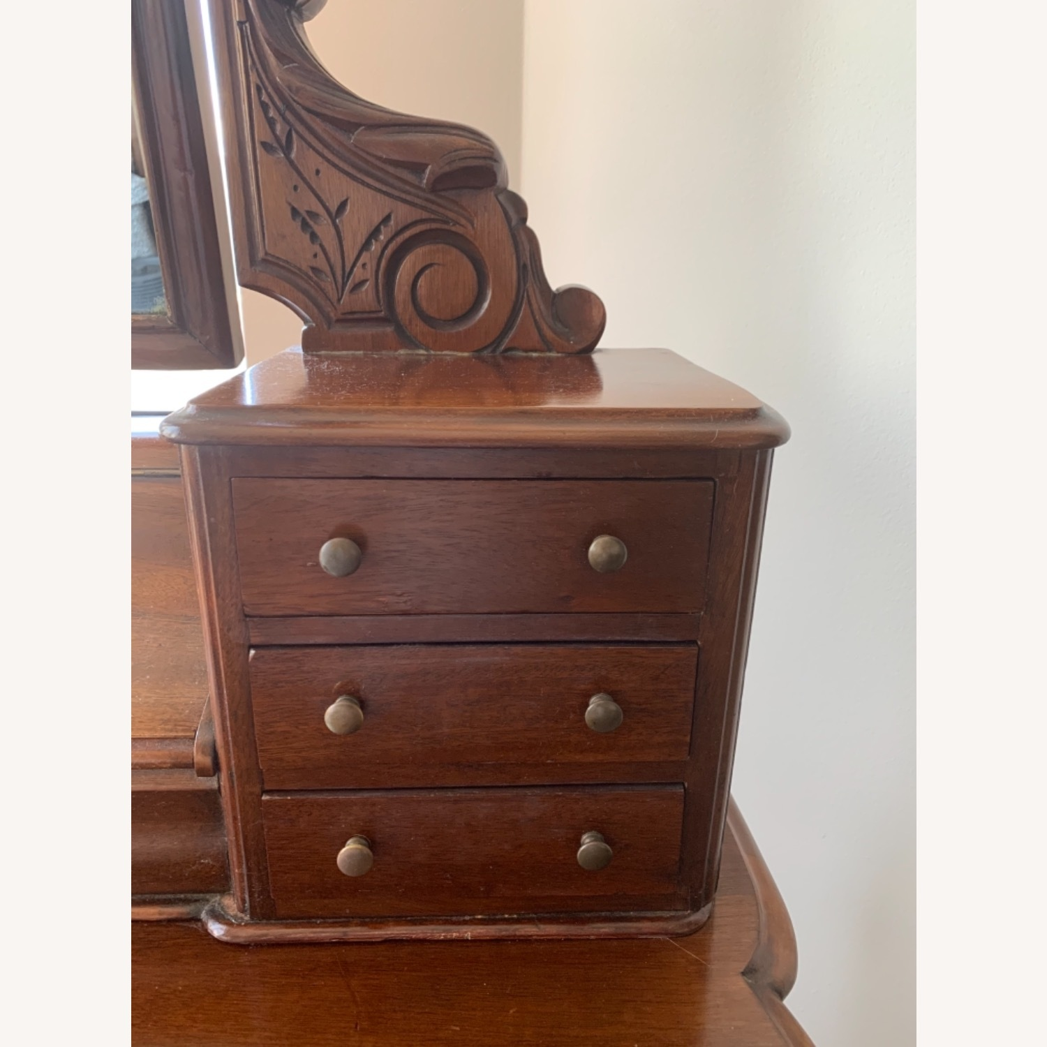 Victorian Antique Vanity Dressing Table and Stool - image-11