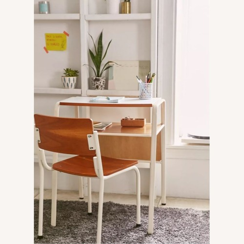 Used Urban Outfitters Acacia Wood Desk + Chair Set for sale on AptDeco