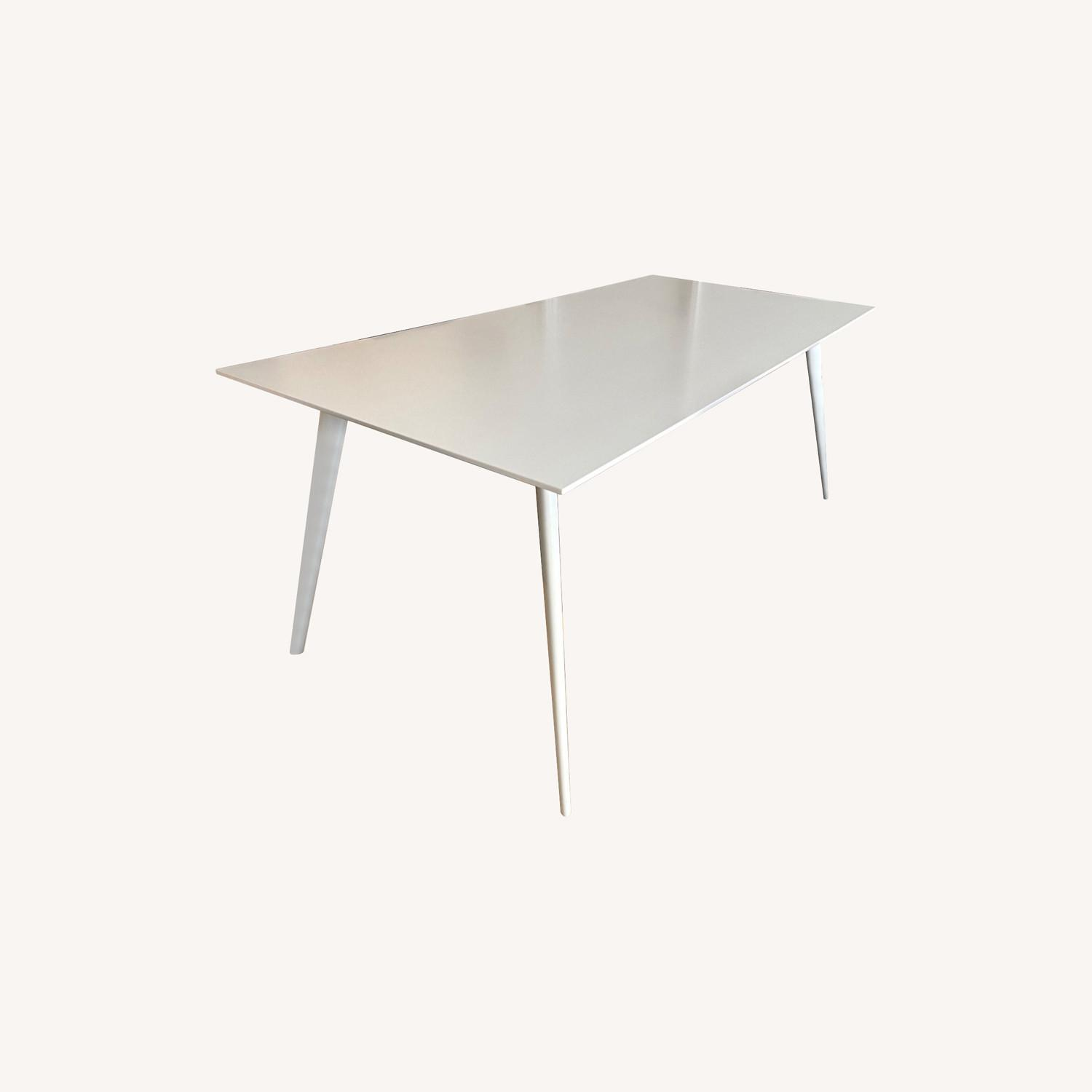 ABC Home White Modern Dining Table - image-0