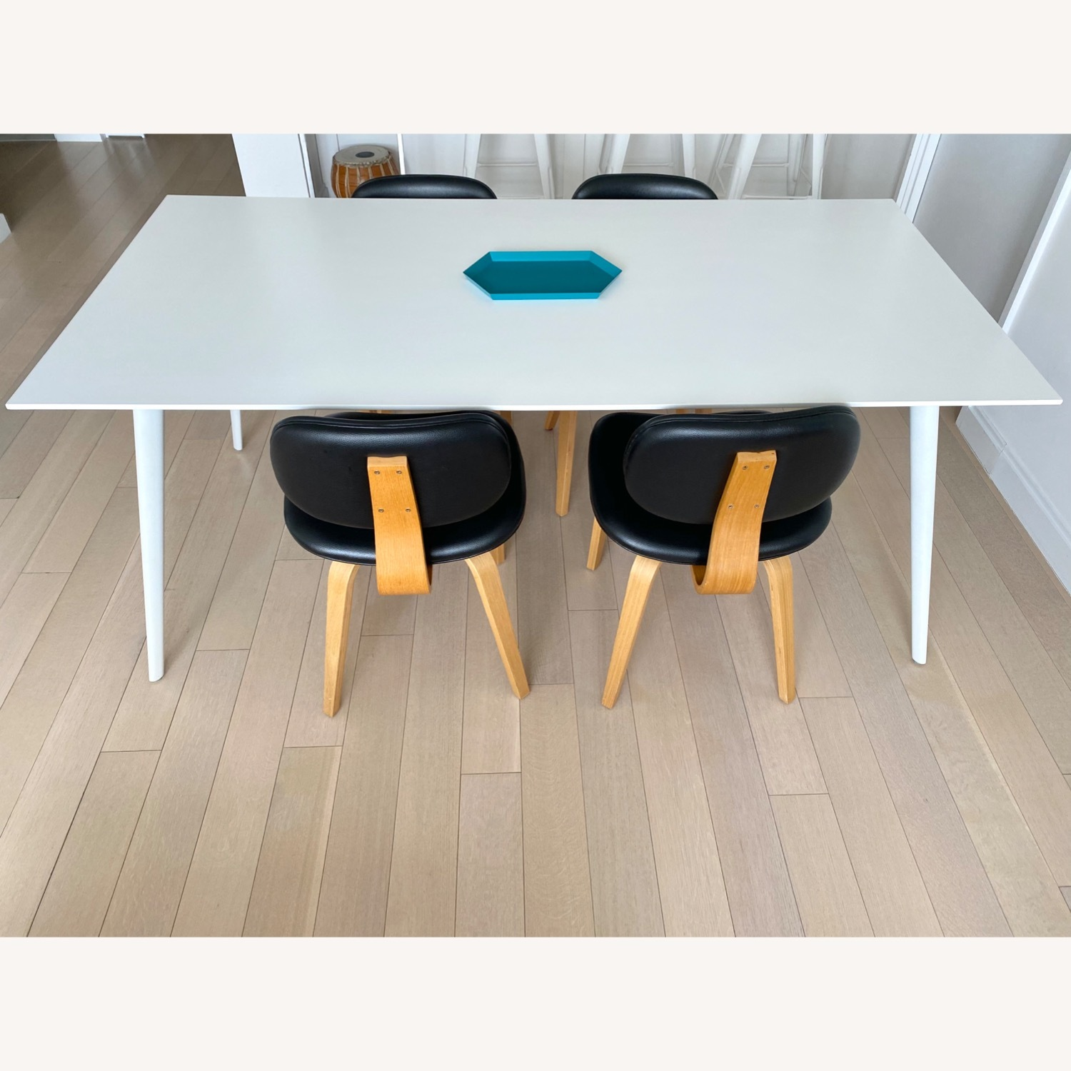 ABC Home White Modern Dining Table - image-8